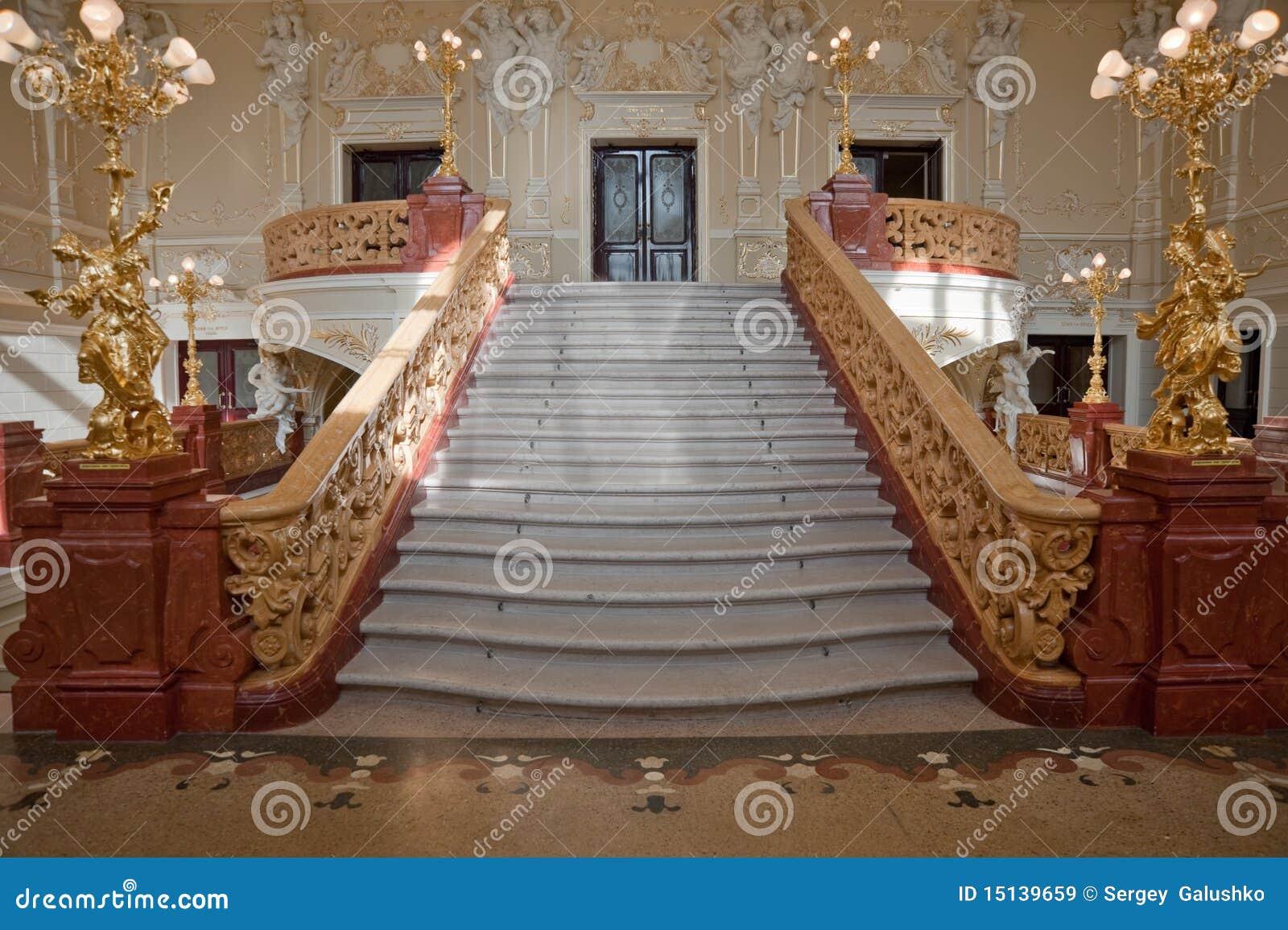 escalier de luxe images libres de droits image 15139659. Black Bedroom Furniture Sets. Home Design Ideas