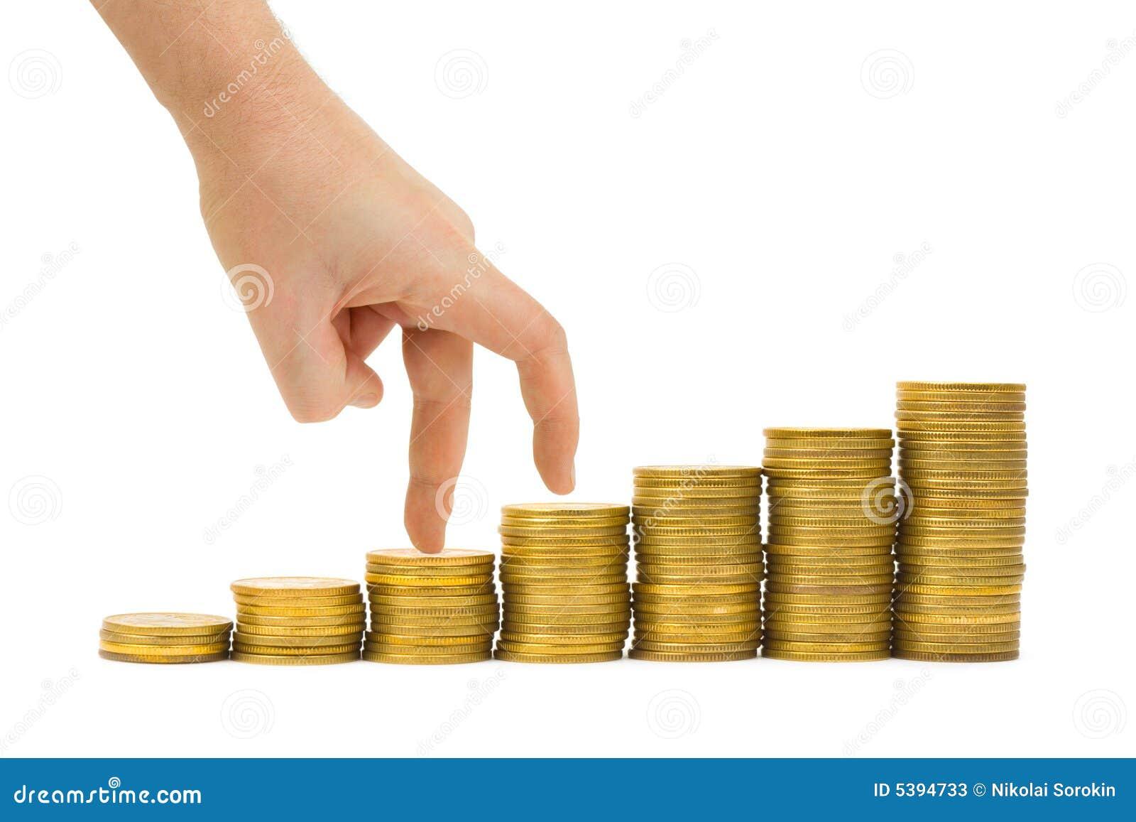 Escalier de main et d argent