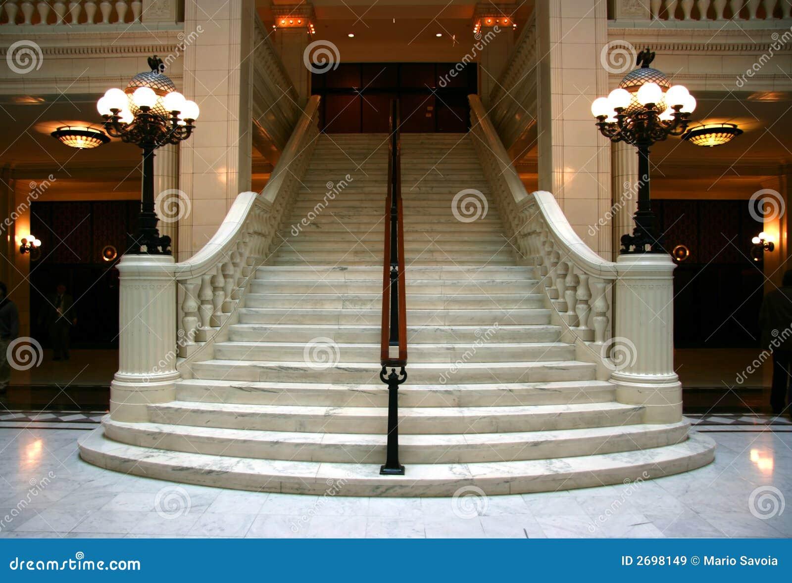 escalier de marbre image stock image du entr e division 2698149. Black Bedroom Furniture Sets. Home Design Ideas