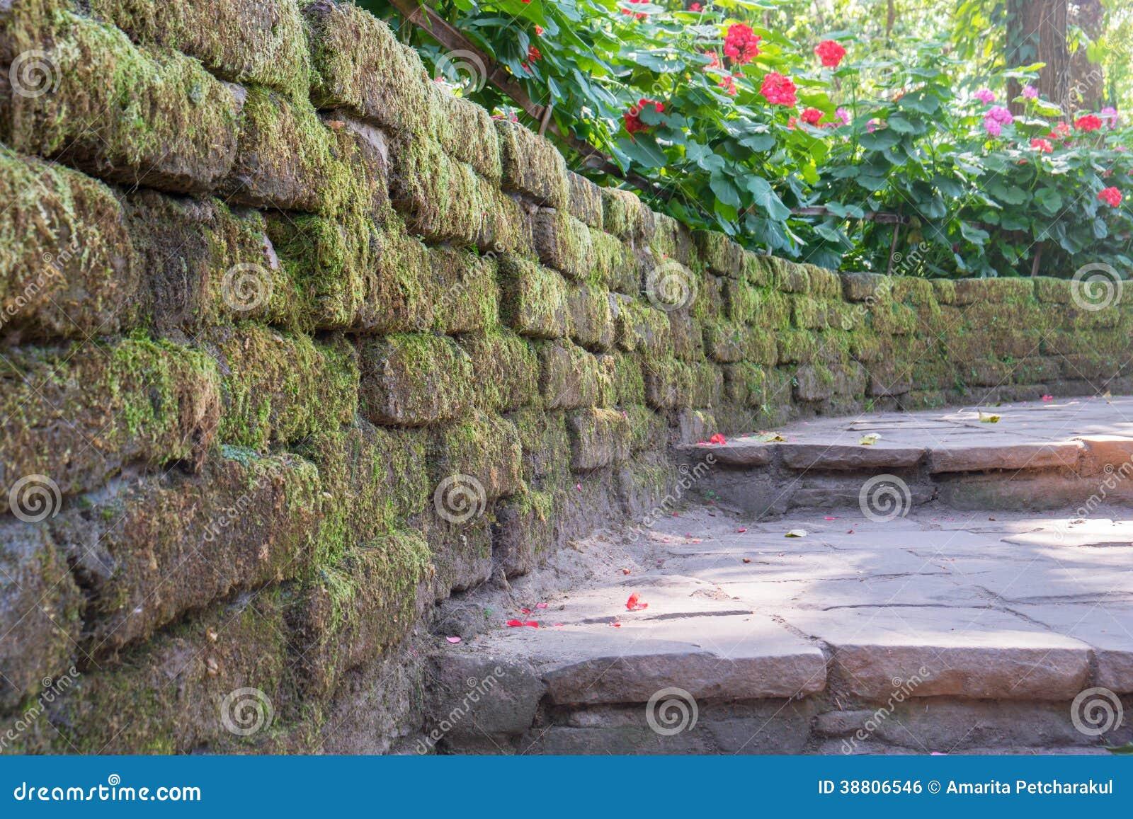escalier en pierre dans le jardin photo stock image 38806546. Black Bedroom Furniture Sets. Home Design Ideas