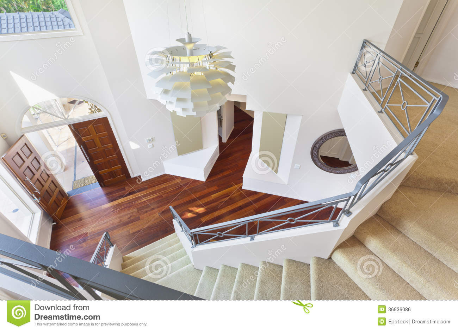 Escalier et entr e la maison australienne moderne image libre de droits i - Escalier entree maison ...