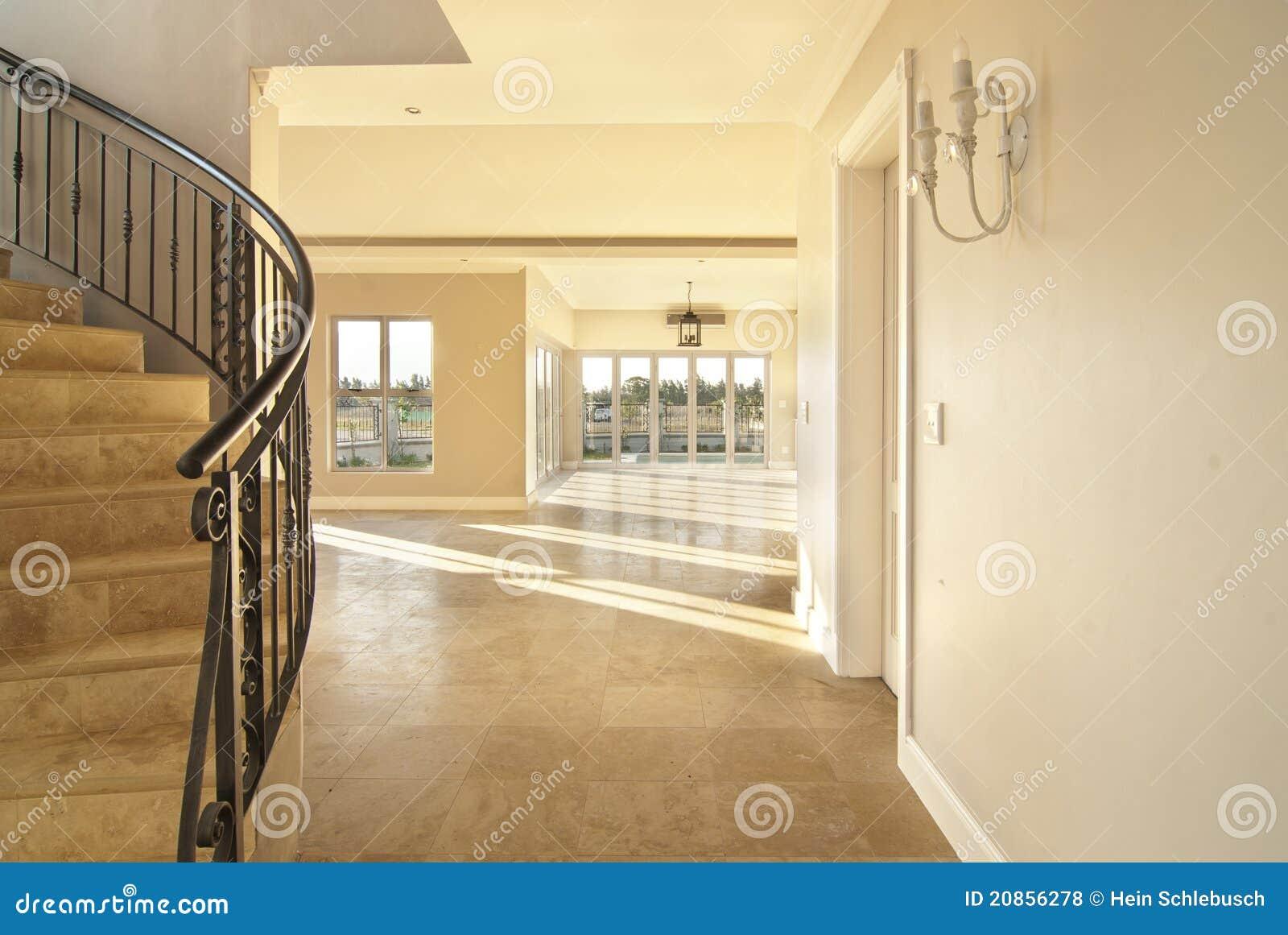 escalier et salon photo stock image du vide indoors 20856278. Black Bedroom Furniture Sets. Home Design Ideas