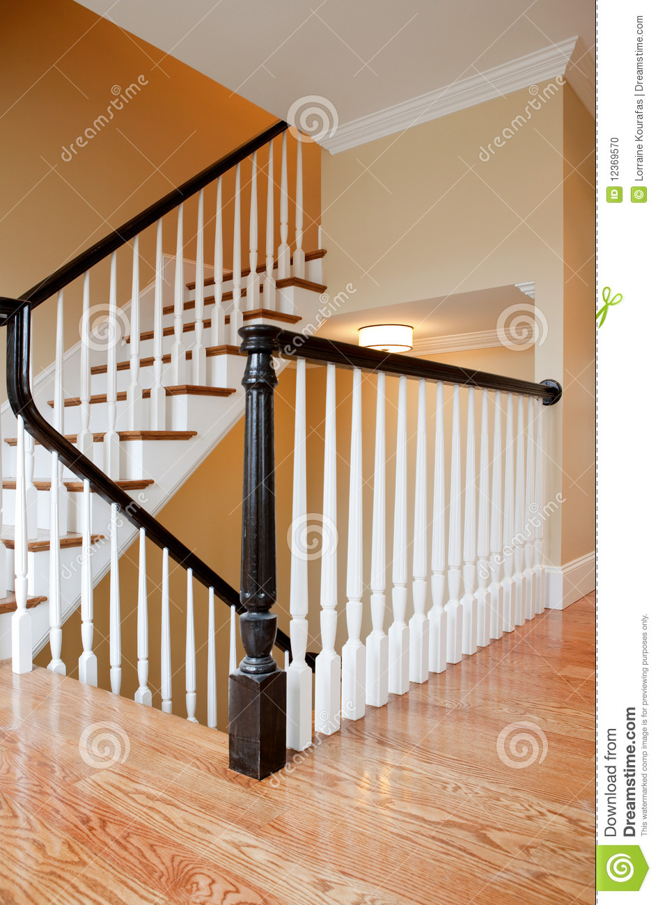 escalier int rieur construction neuve photo stock image