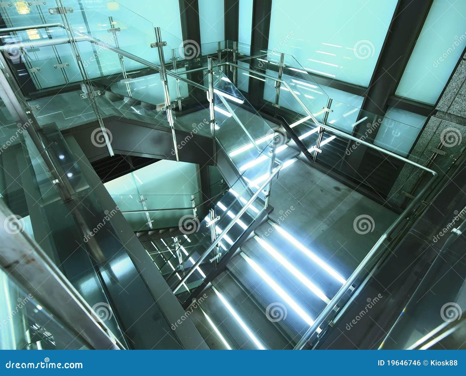 escalier lumineux image libre de droits image 19646746. Black Bedroom Furniture Sets. Home Design Ideas