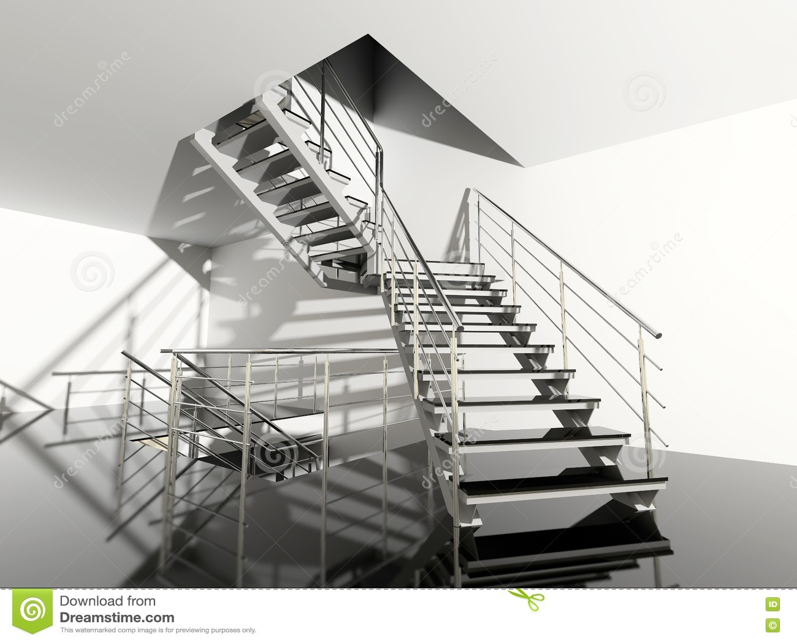 escalier moderne image stock image 2798371. Black Bedroom Furniture Sets. Home Design Ideas