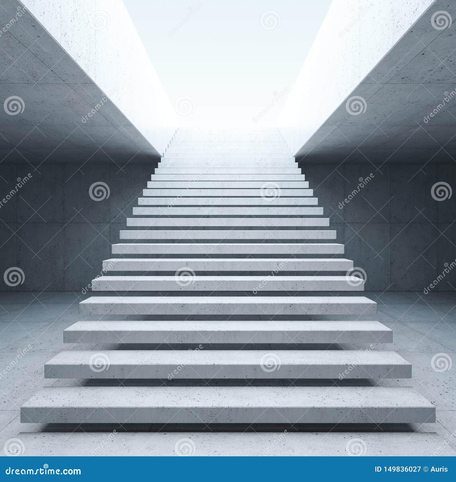 Escalier Moderne Dans L\'int?rieur Concret Illustration Stock ...