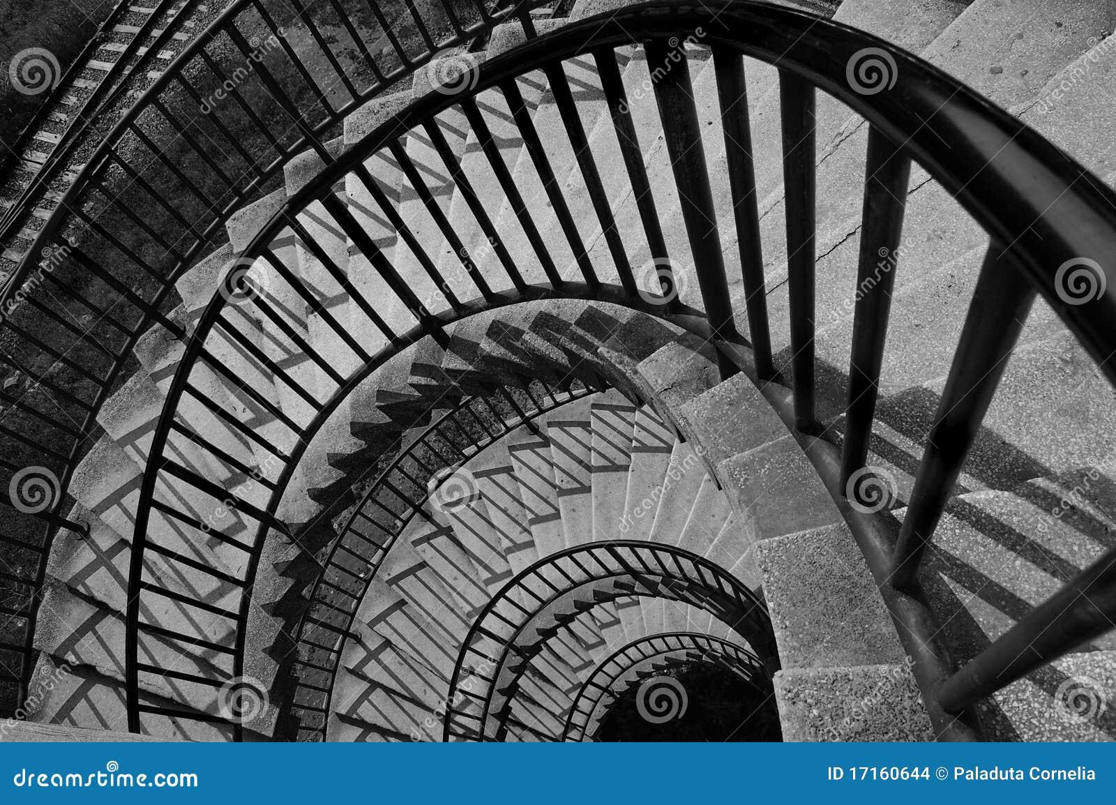 Escalier noir et blanc images stock image 17160644 - Escalier noir et blanc ...
