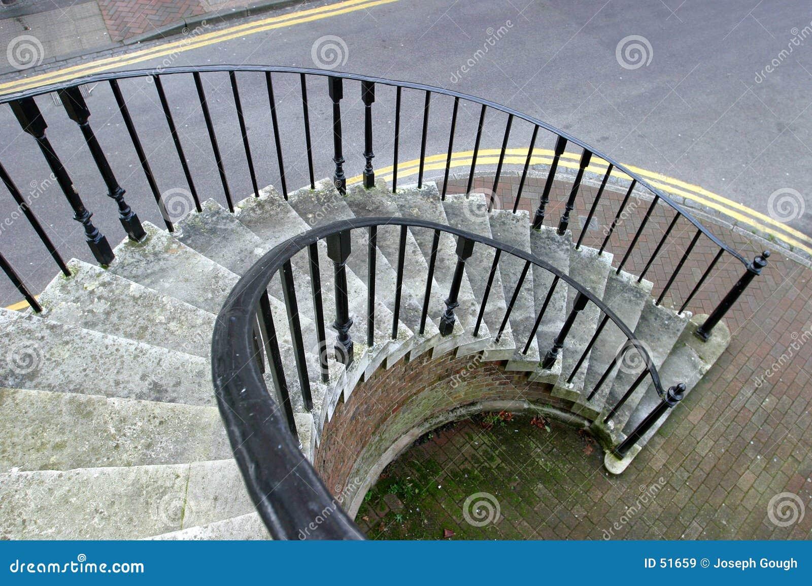 Escalier spiralé