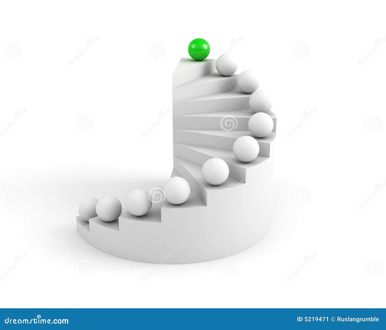 Escaliers à la réussite