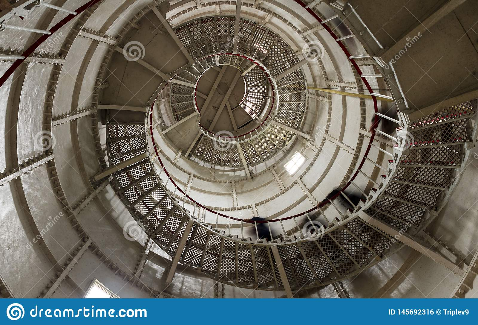 Escaliers d un phare dans Poti, la Géorgie