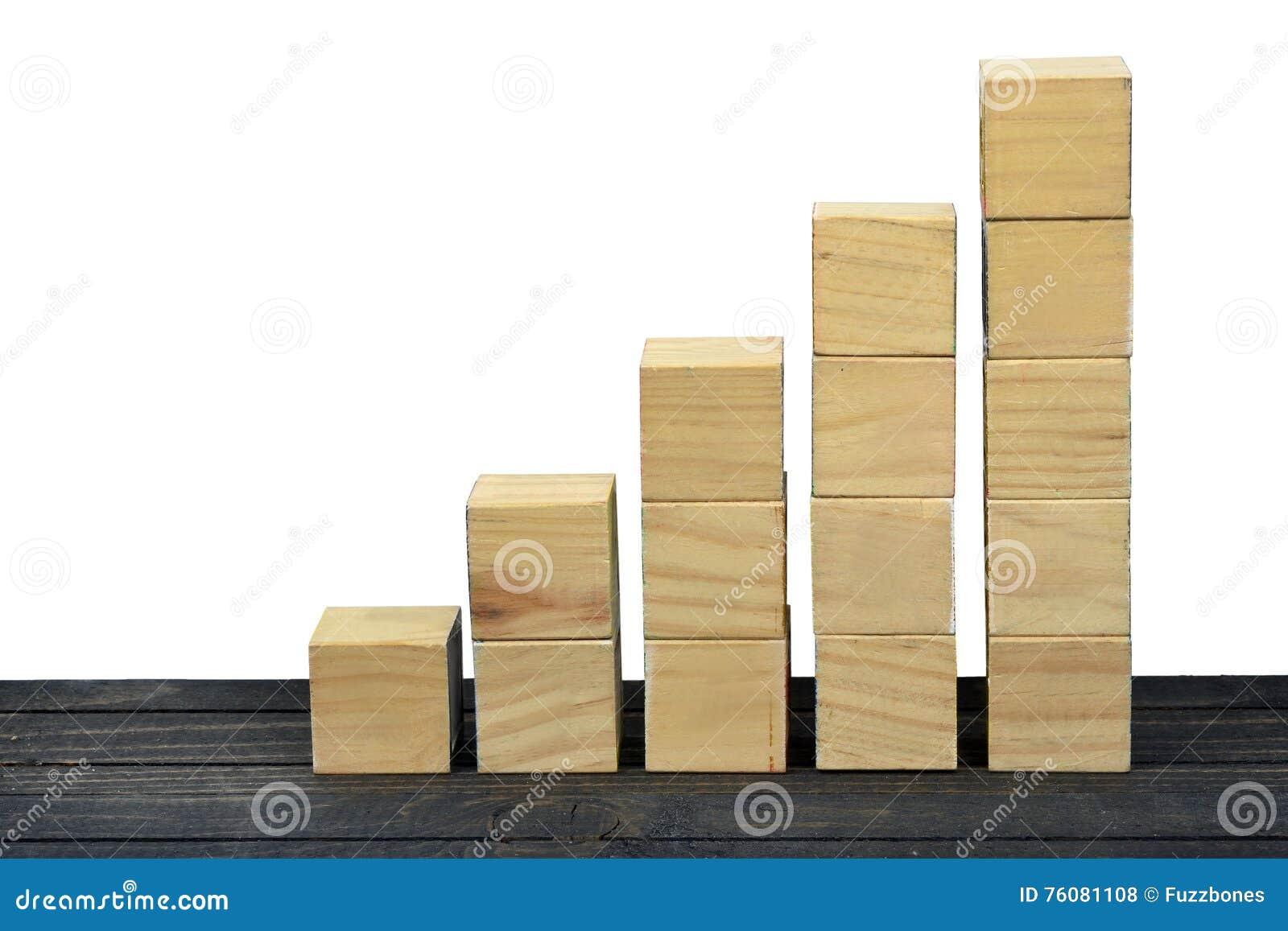 Escaliers de bloc sur la table