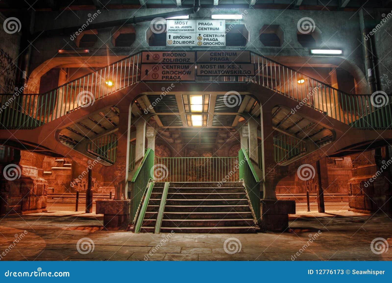 Escaliers de drogue