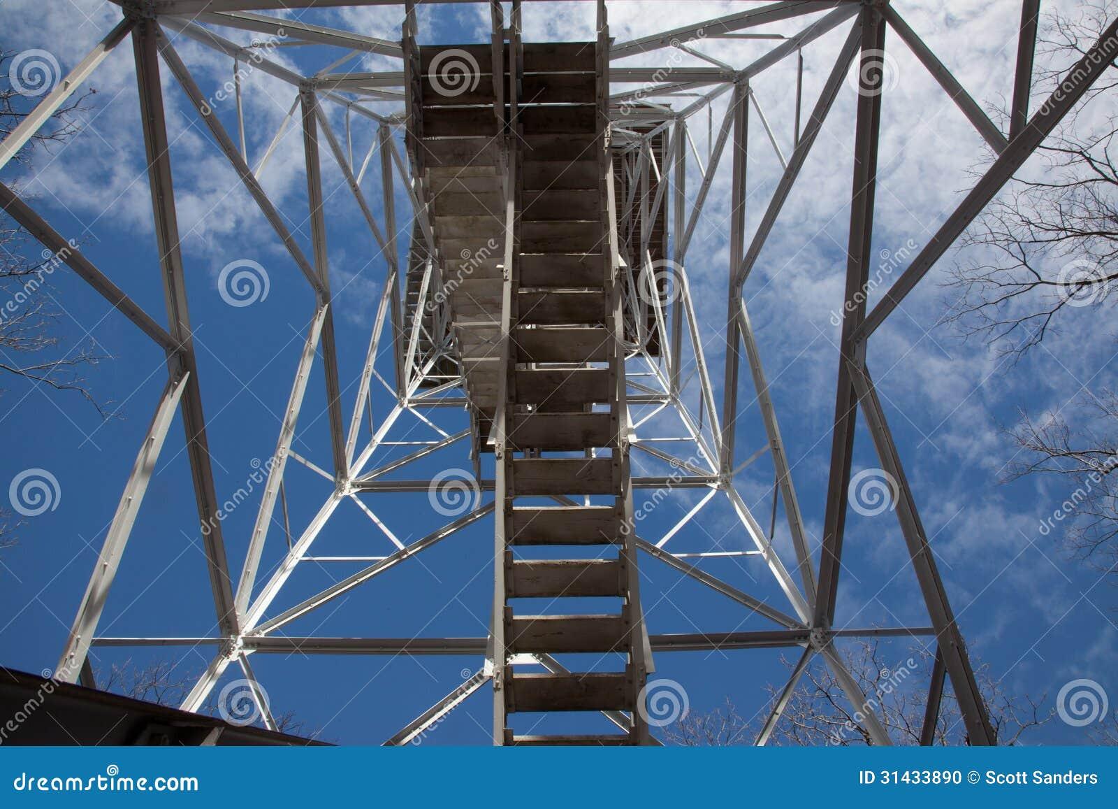 Escaliers de tour de surveillance