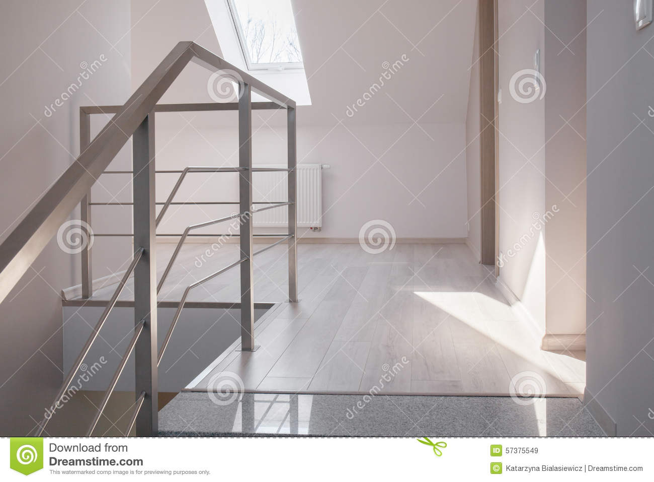 escaliers en acier de balustrade et de marbre photo stock. Black Bedroom Furniture Sets. Home Design Ideas