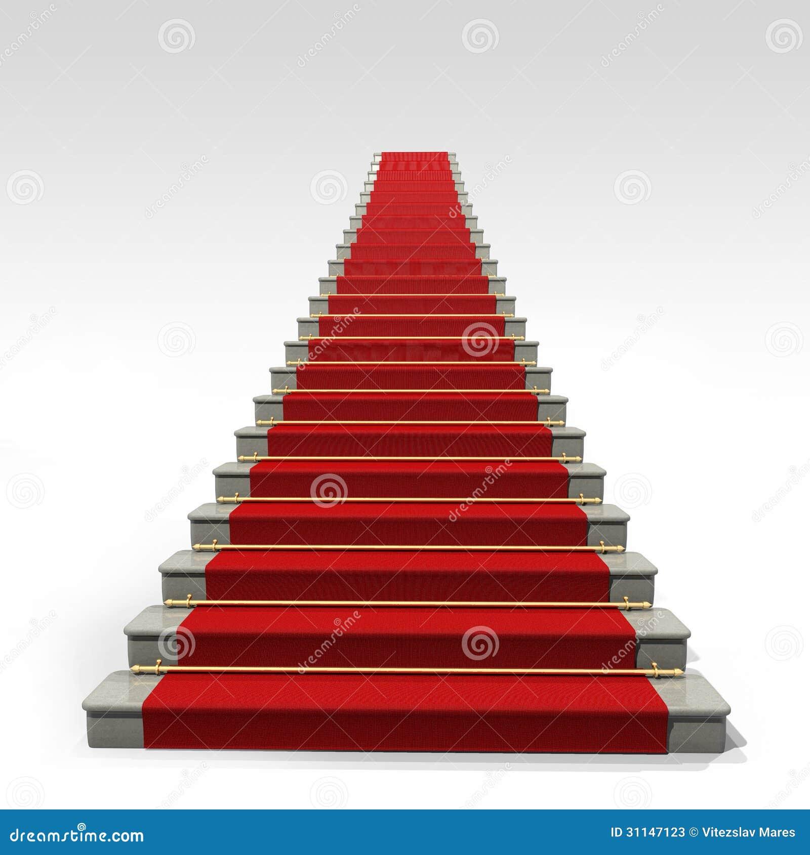 escaliers et tapis rouge photos stock image 31147123. Black Bedroom Furniture Sets. Home Design Ideas