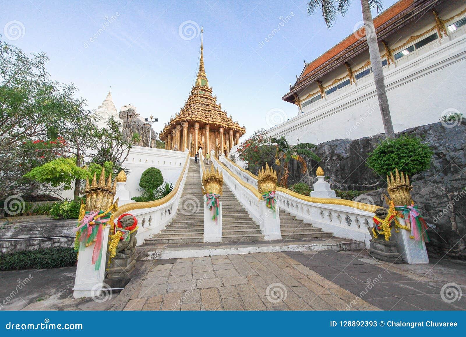Escaliers Wat Phra Phutthabat, Saraburi Thaïlande