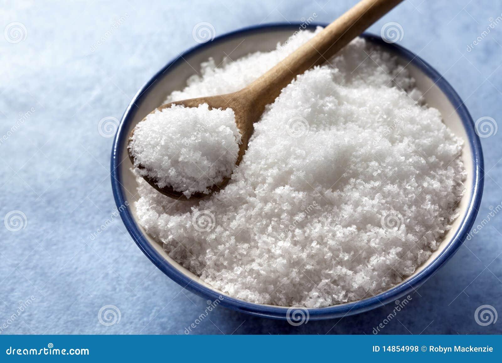 Escamas de la sal del mar