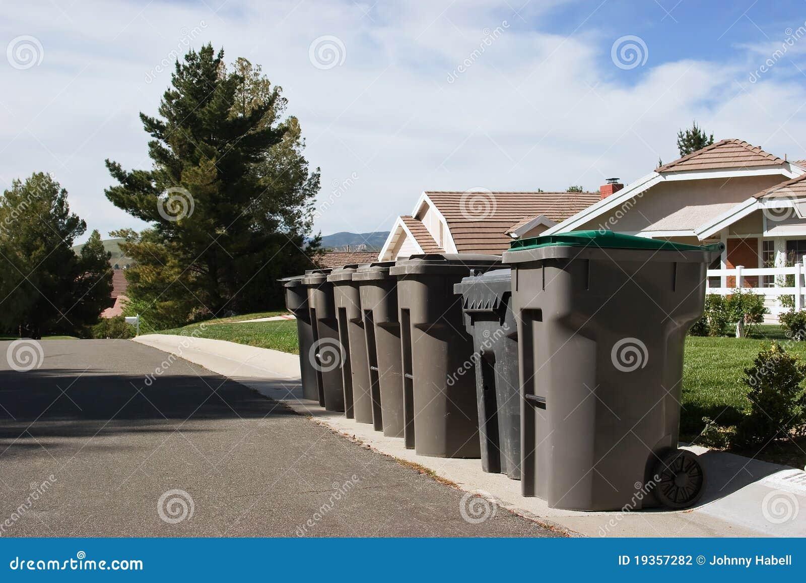 Escaninhos de lixo múltiplos