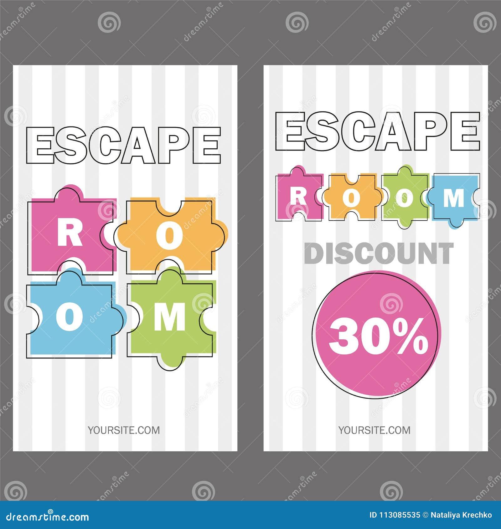 Escape Room. Vector Illustration Poster, Banner On White Background ...