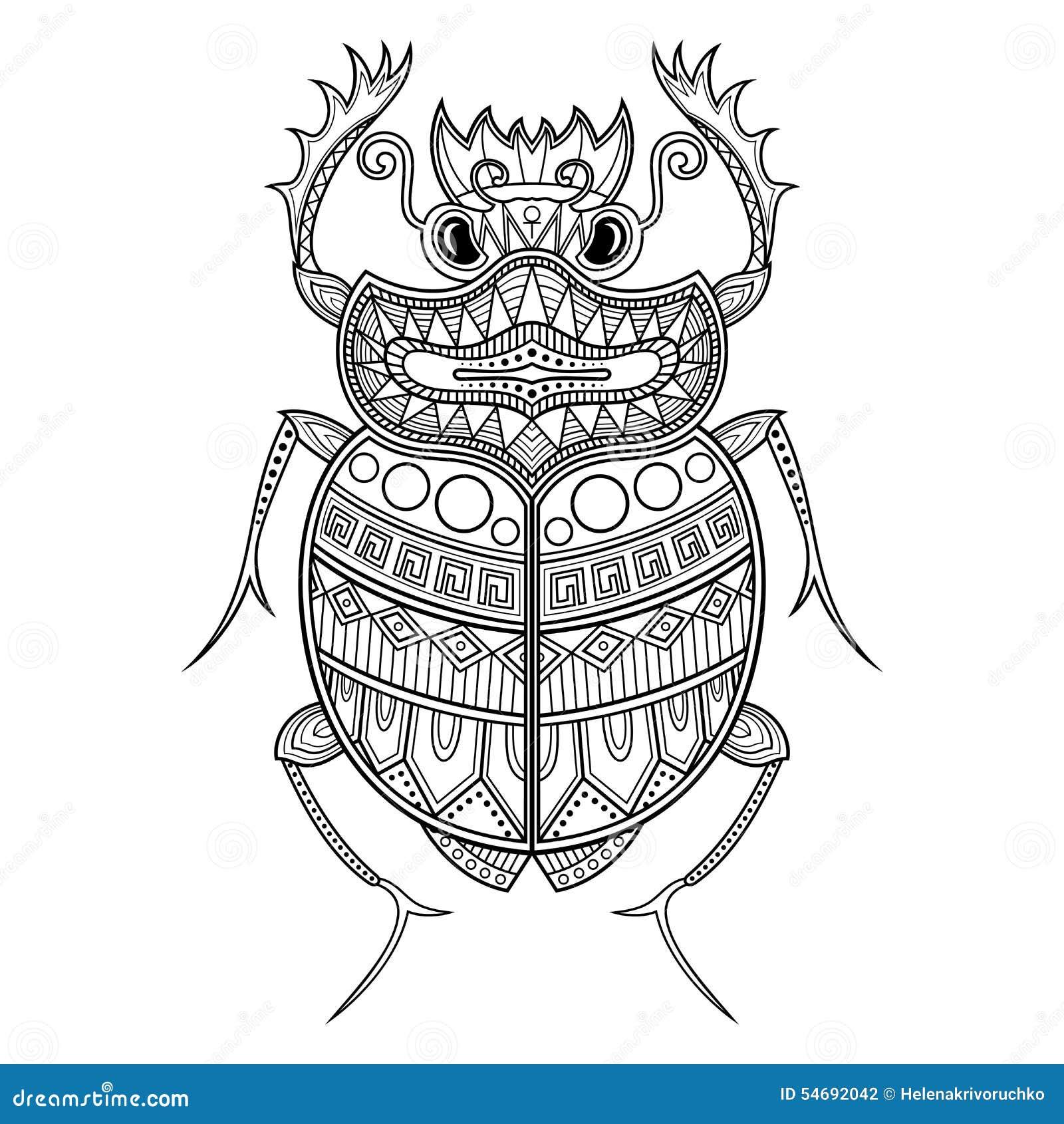 Escarabajo Del Escarabajo Del Vector Ilustración del Vector ...