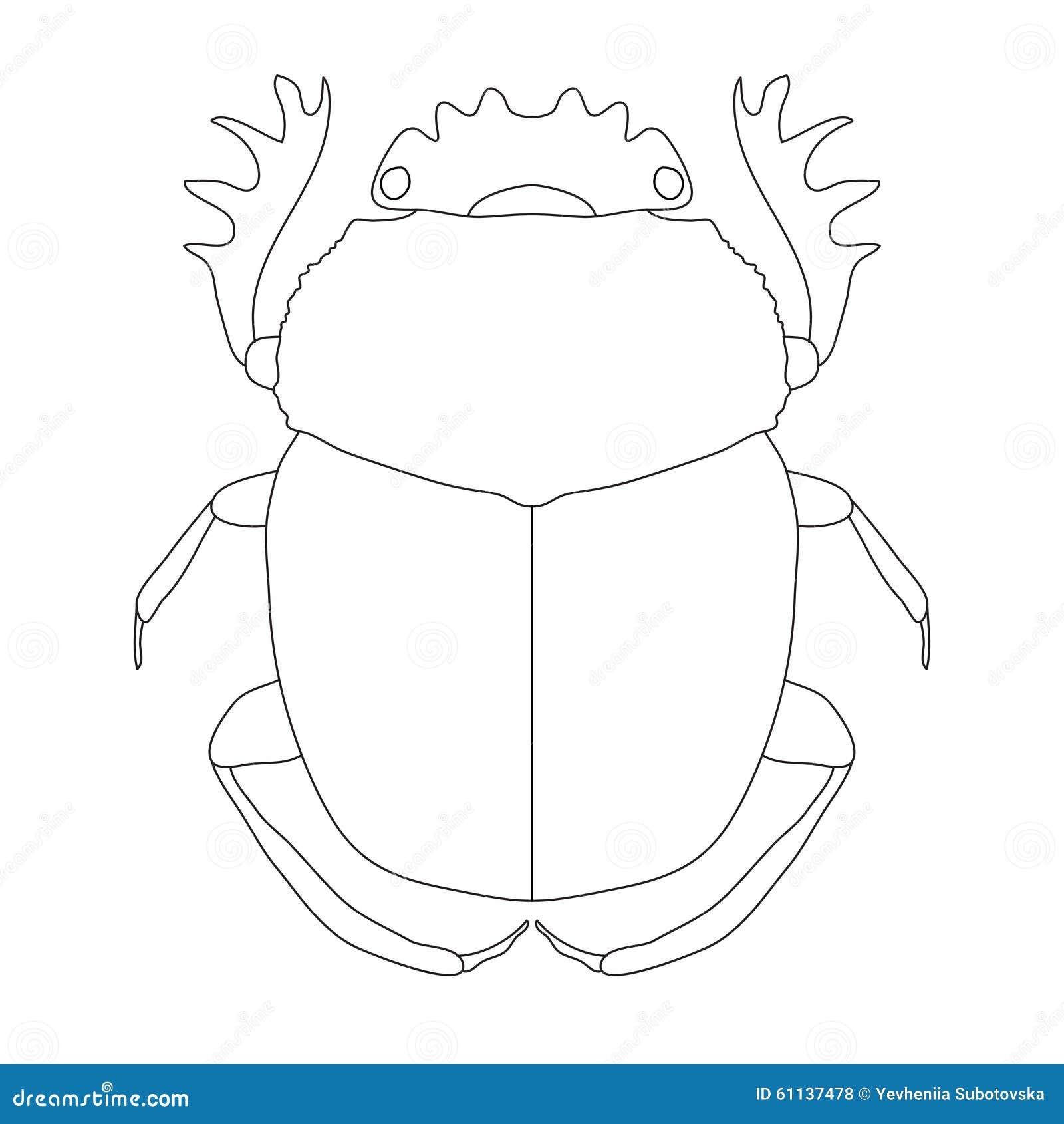 Escarabajo Dor-escarabajo De Geotrupidae Ilustración del Vector ...