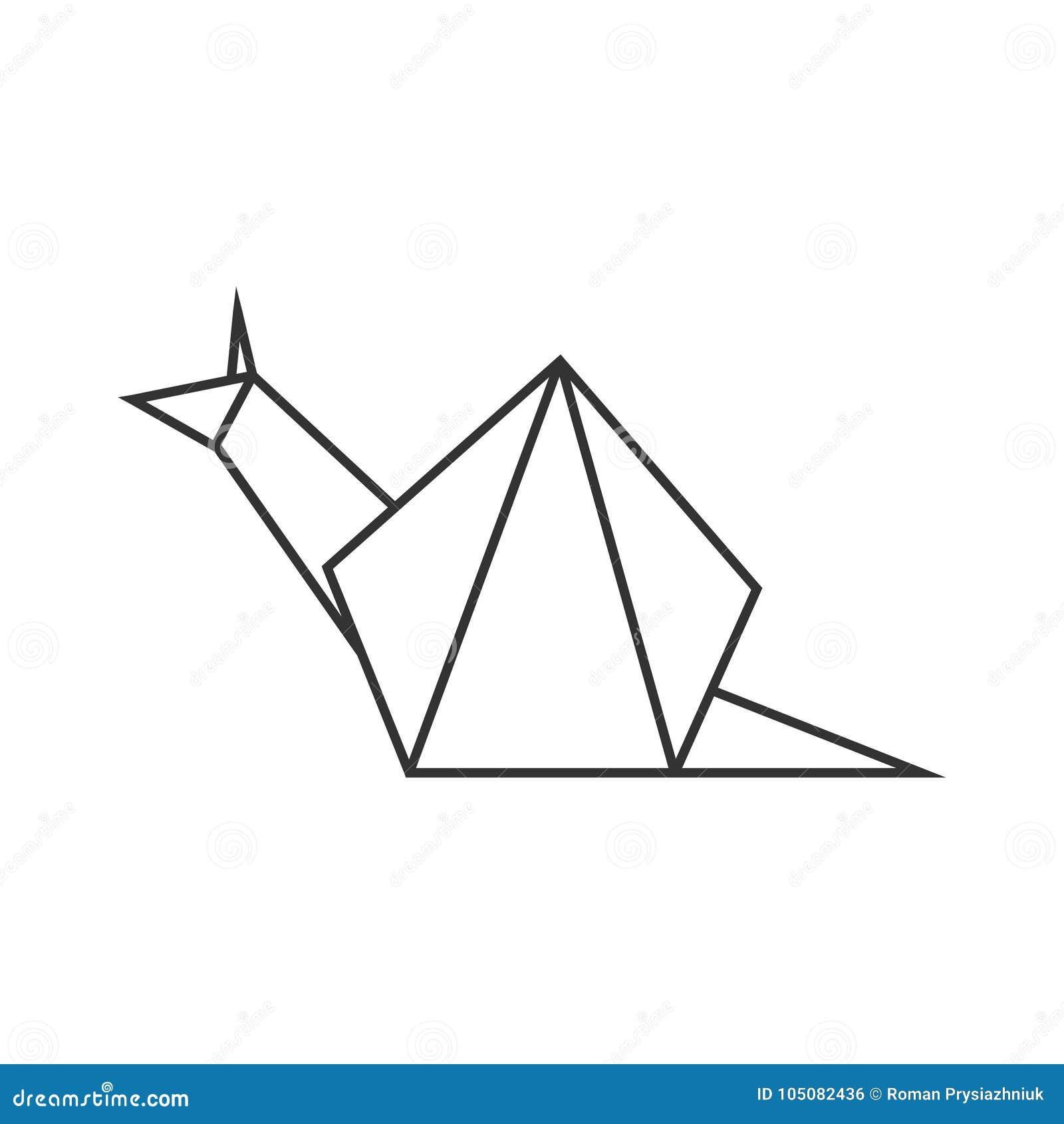 Magnifique Escargot D'origami Ligne Forme Géométrique Pour L'art Du Papier #KZ_76