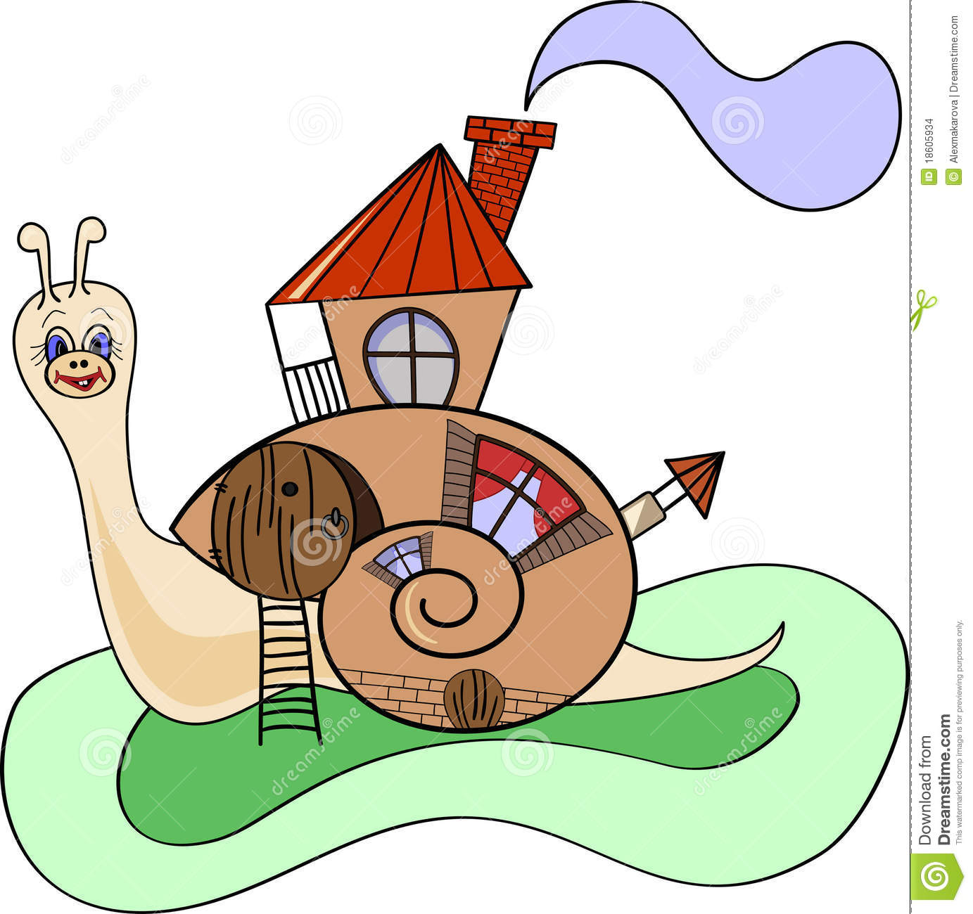 Escargot maison illustration de vecteur image du - Clipart escargot ...