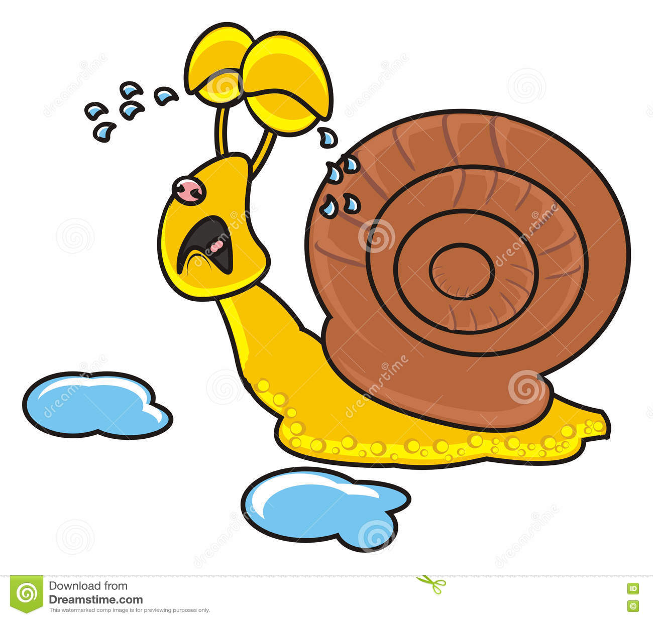 Escargot pleurant am rement illustration stock image - Gary l escargot ...