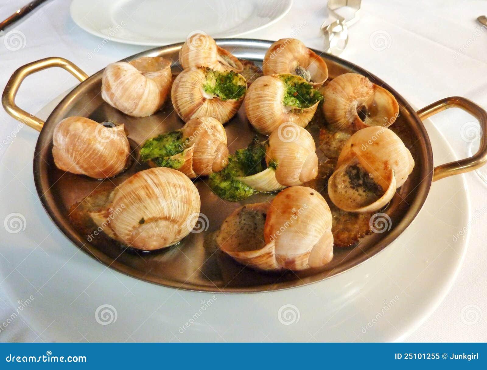 Escargot served