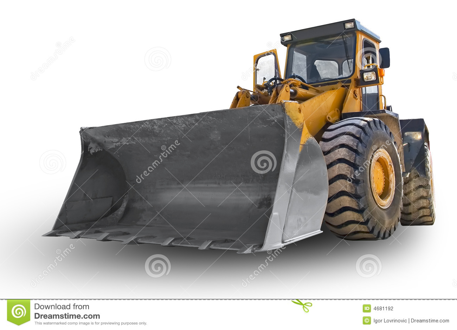 Escavadora isolada