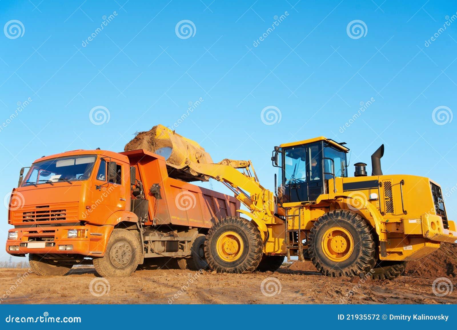 Escavatore del caricatore della rotella e scaricatore del ribaltatore