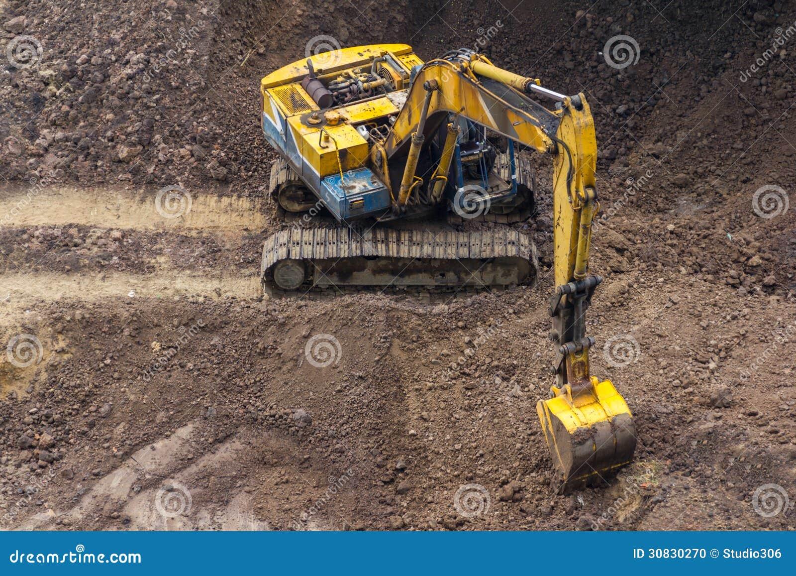 Escavatore giallo