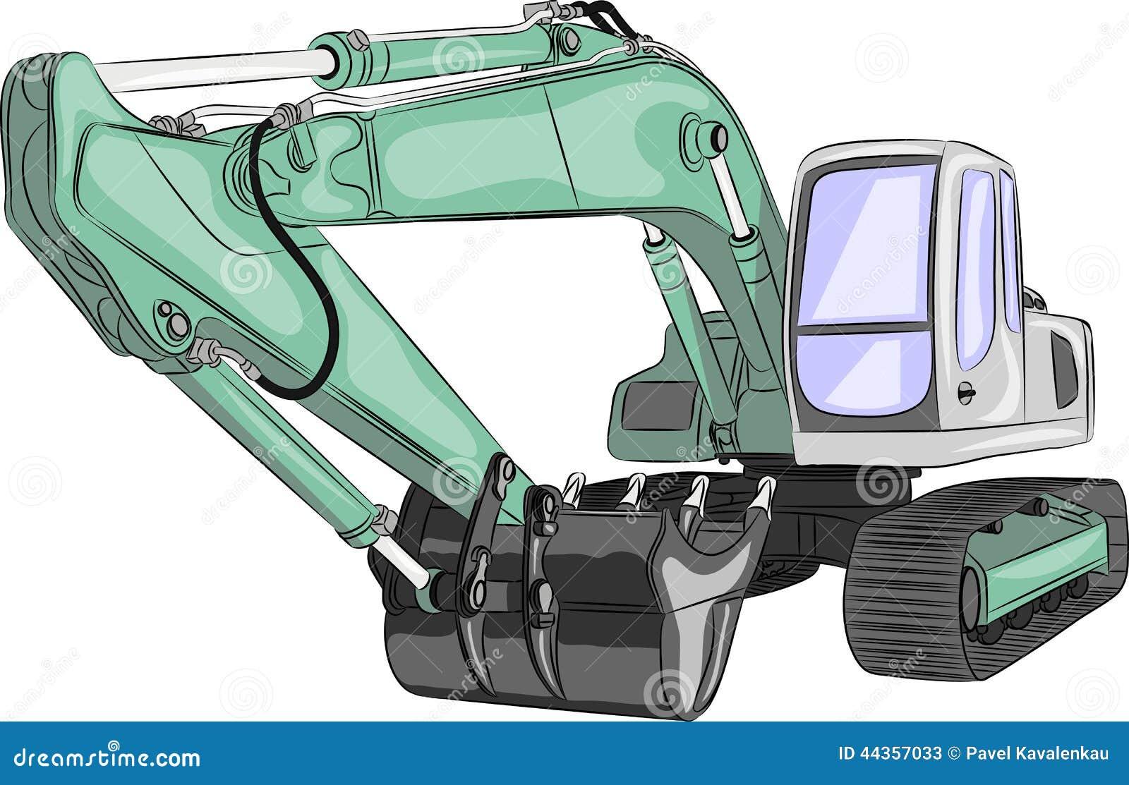 Escavatore pesante di vettore