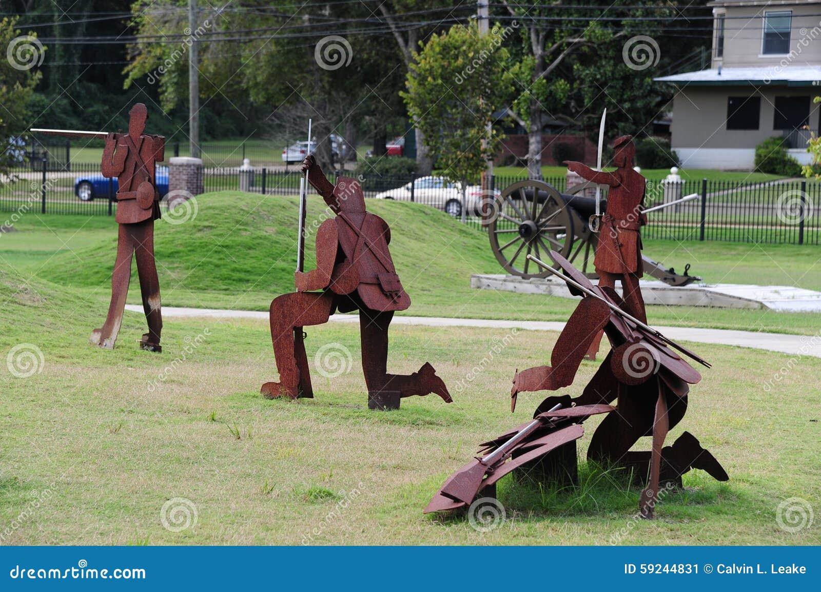 Download Escena De Batalla De La Guerra Civil En El Parque De La Libertad, Helena Arkansas Foto editorial - Imagen de estatua, cannonball: 59244831
