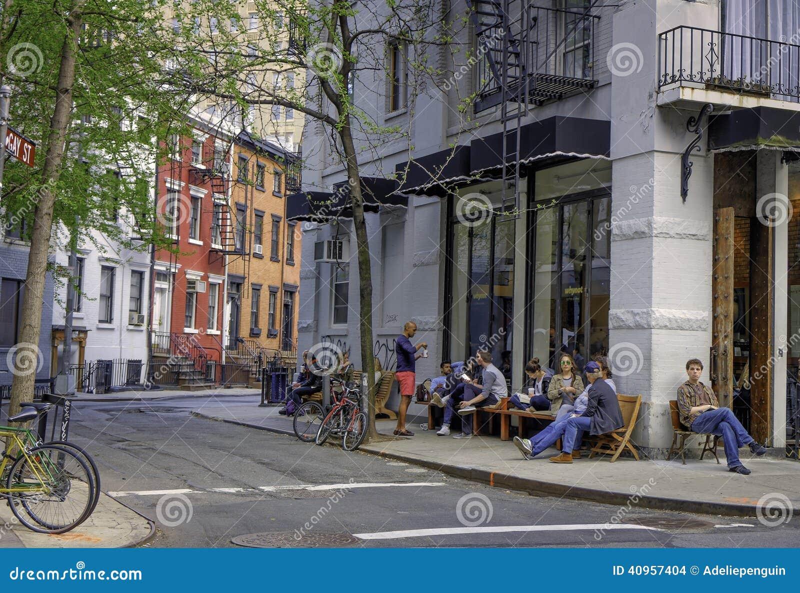 Escena de la calle, Greenwich Village, Nueva York