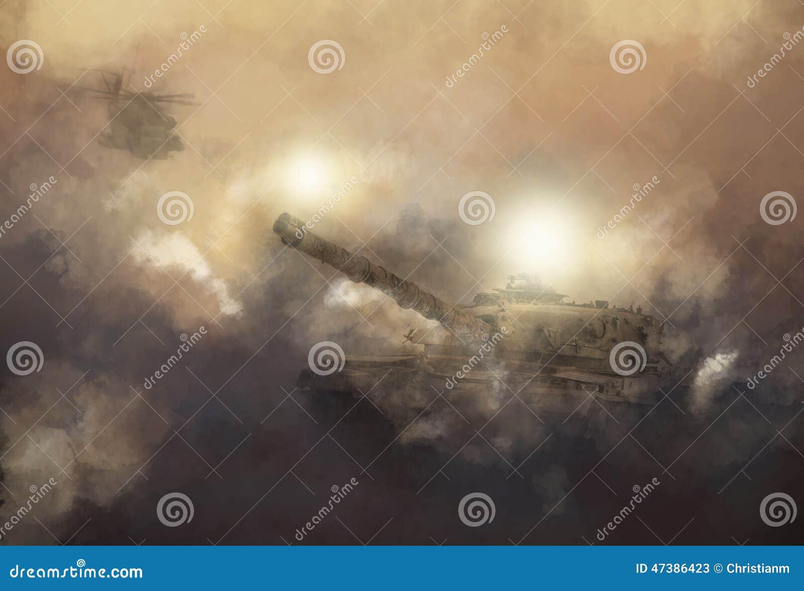 Escena de la guerra