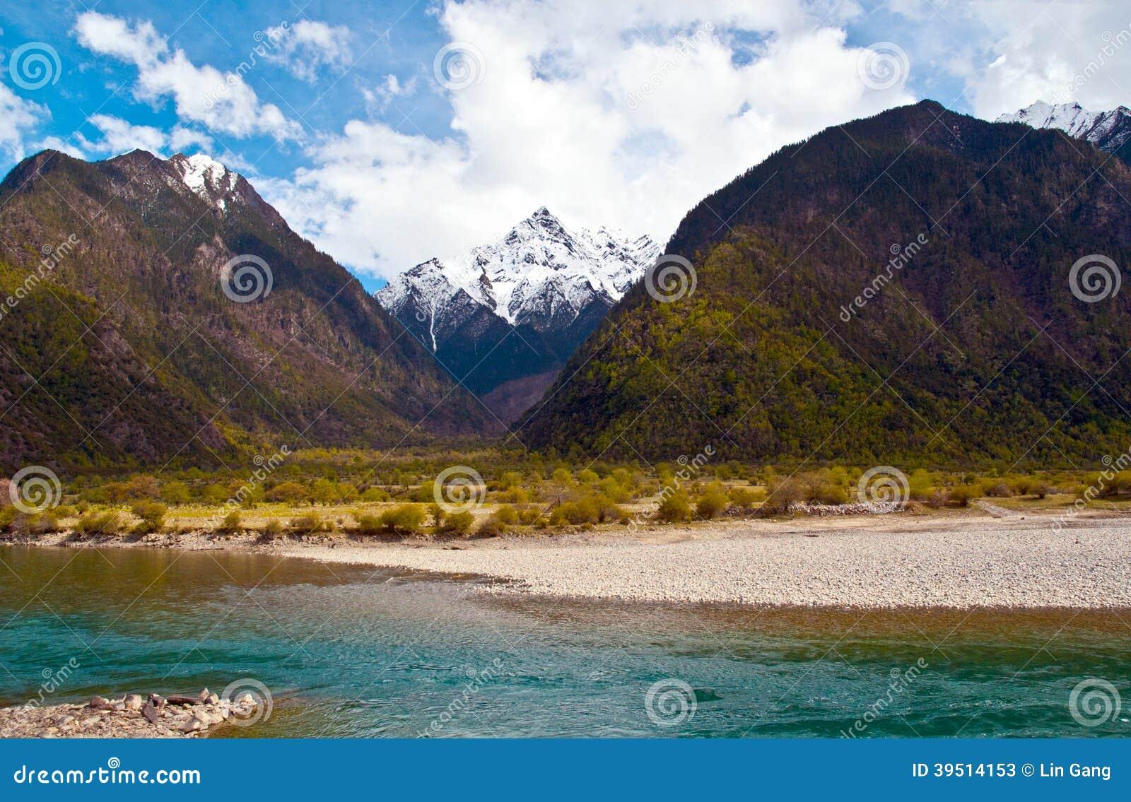 Escena de la meseta tibetana