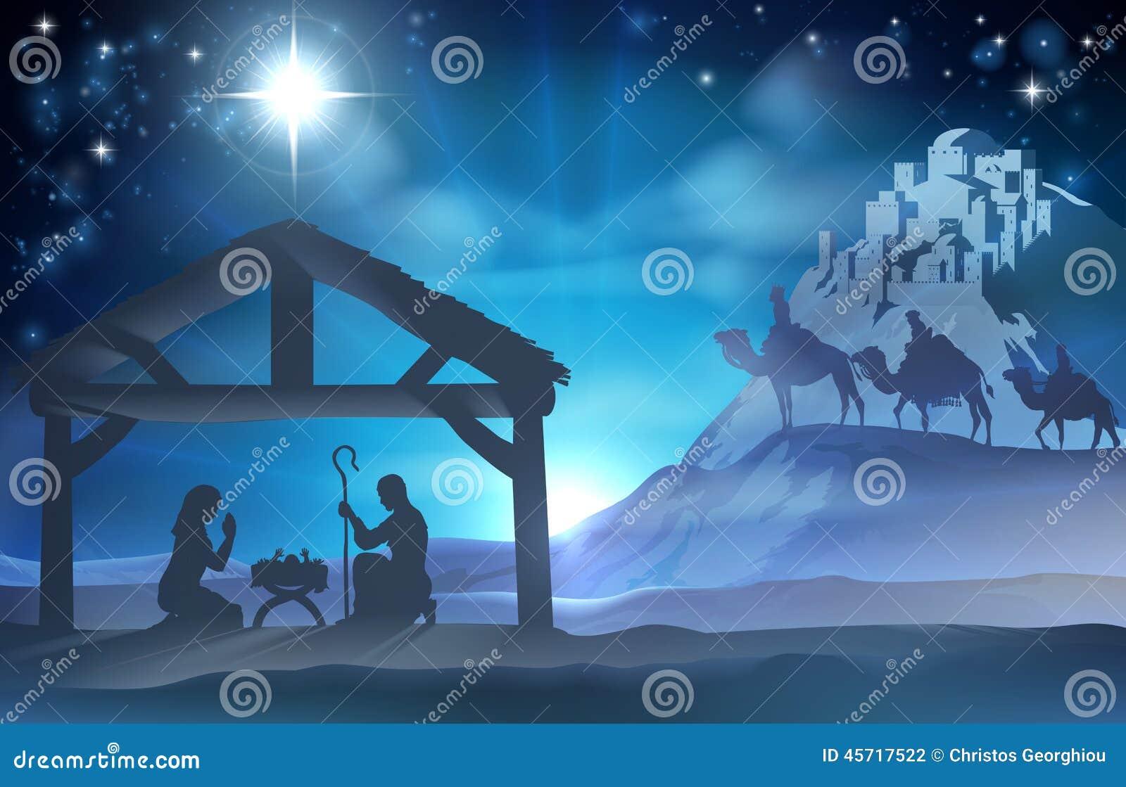 Escena de la Navidad de la natividad