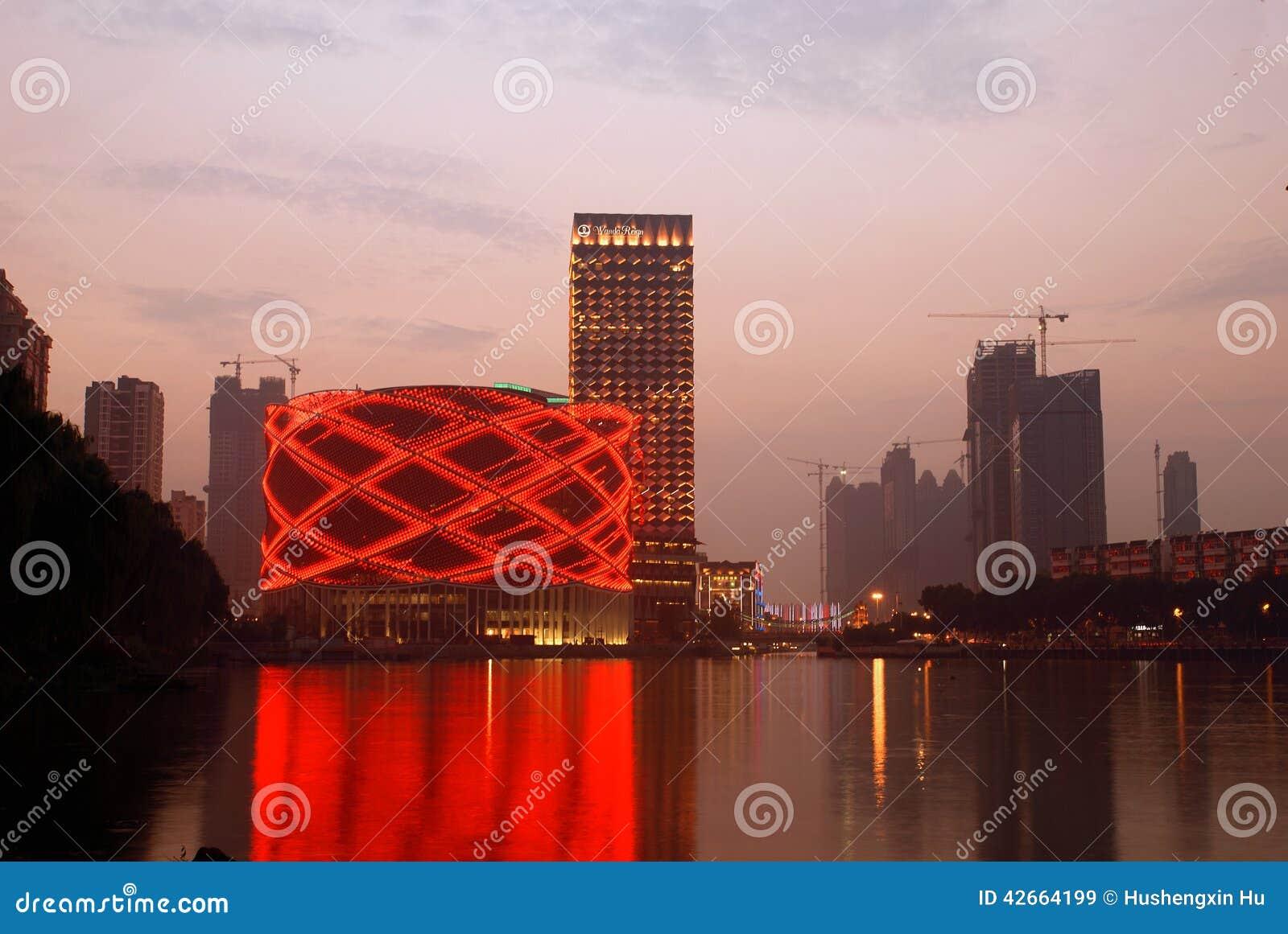 Escena de la noche de la ciudad