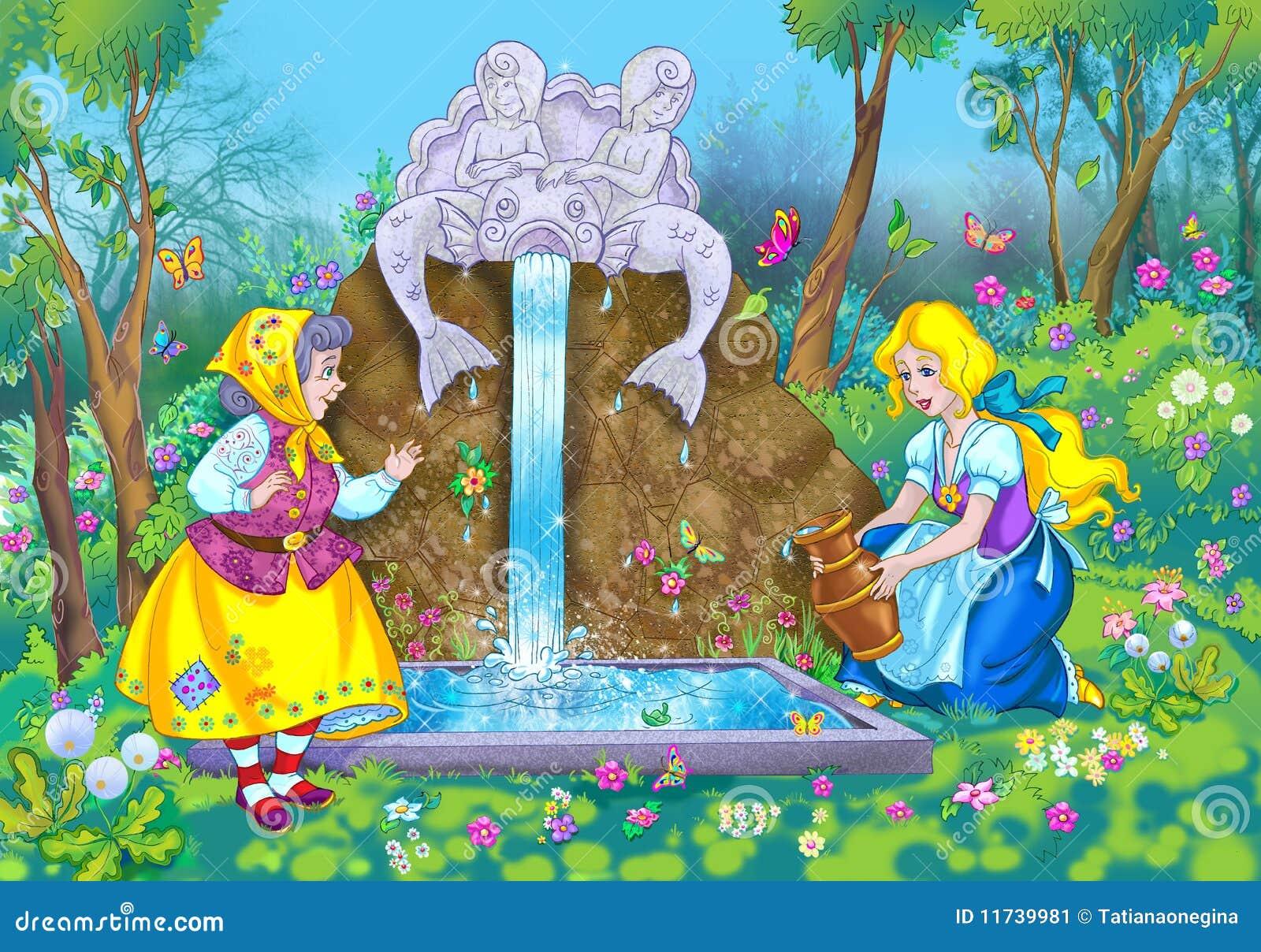 Escena del cuento de hadas stock de ilustración. Imagen de ...