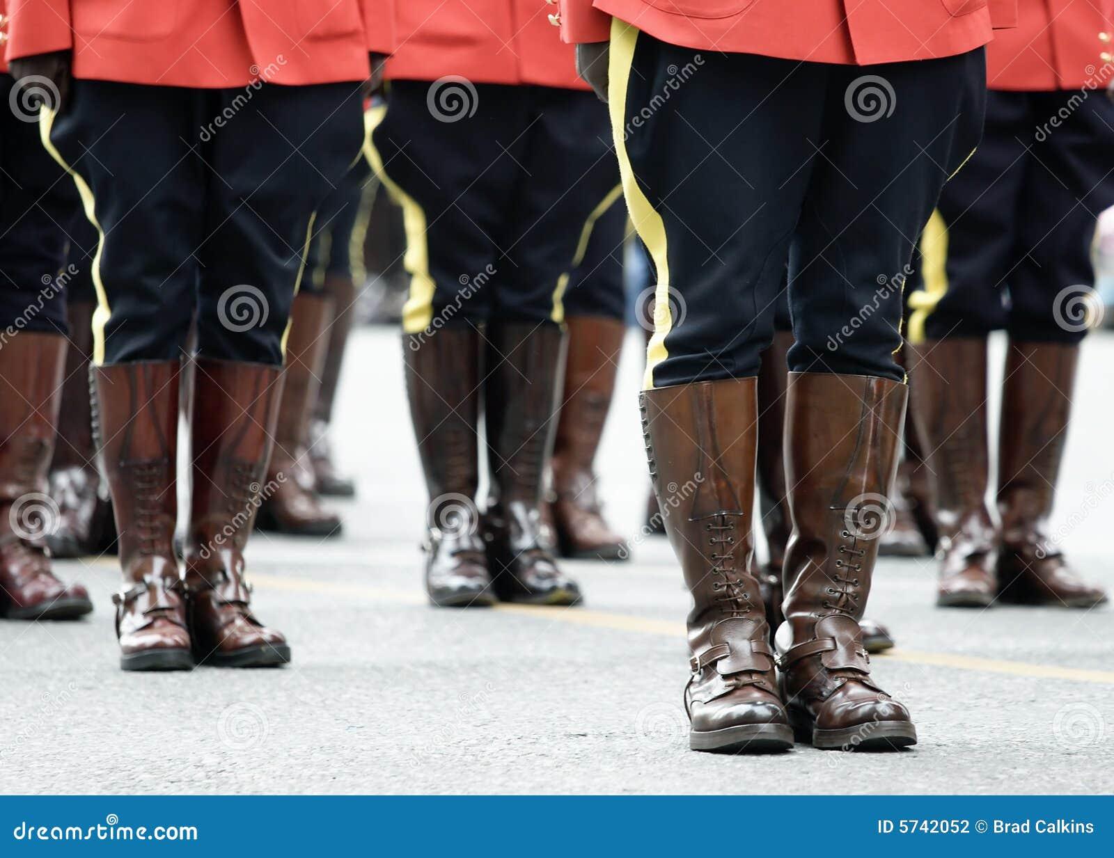 Escena del desfile de RCMP