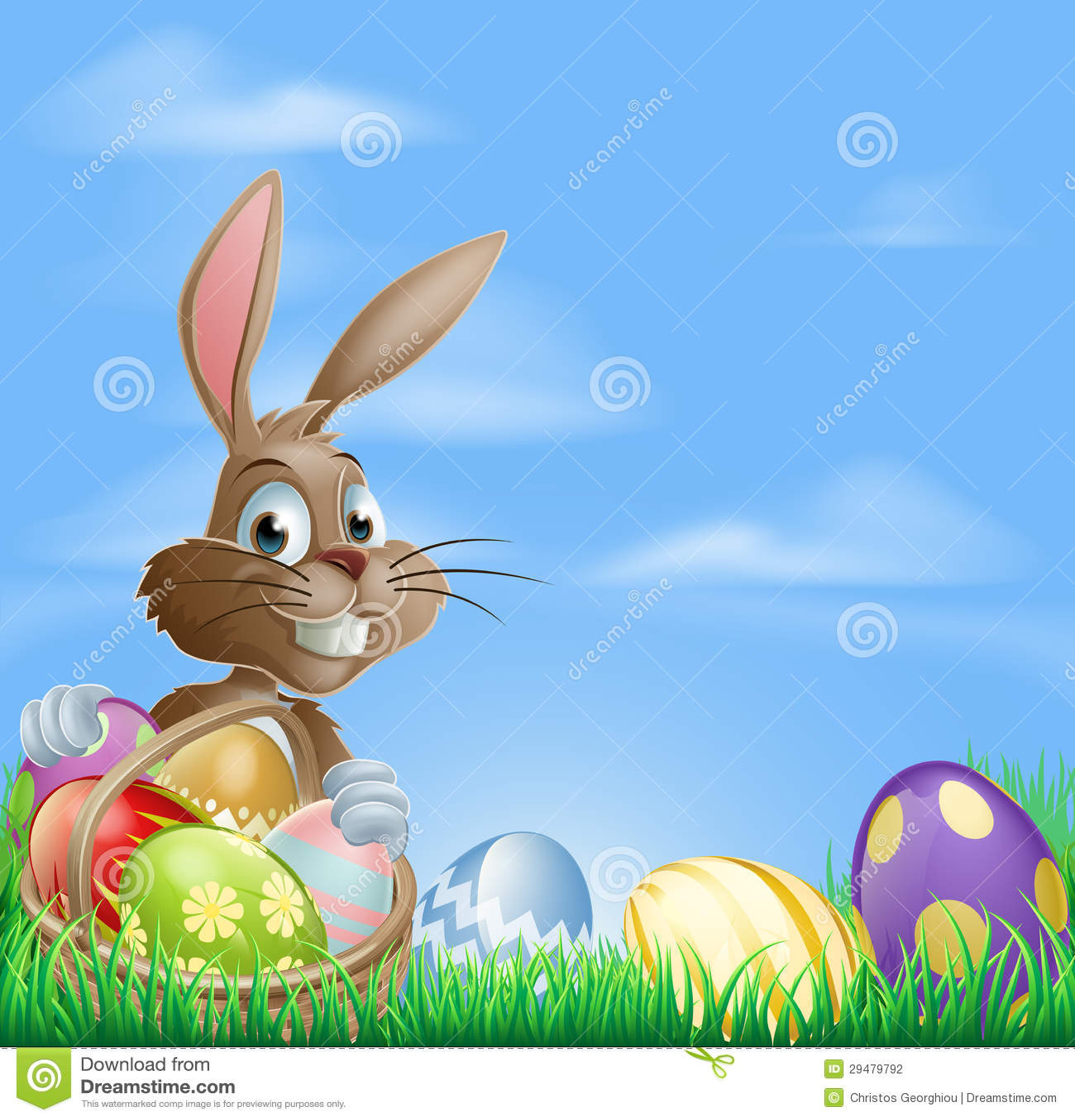 Escena del fondo de Pascua
