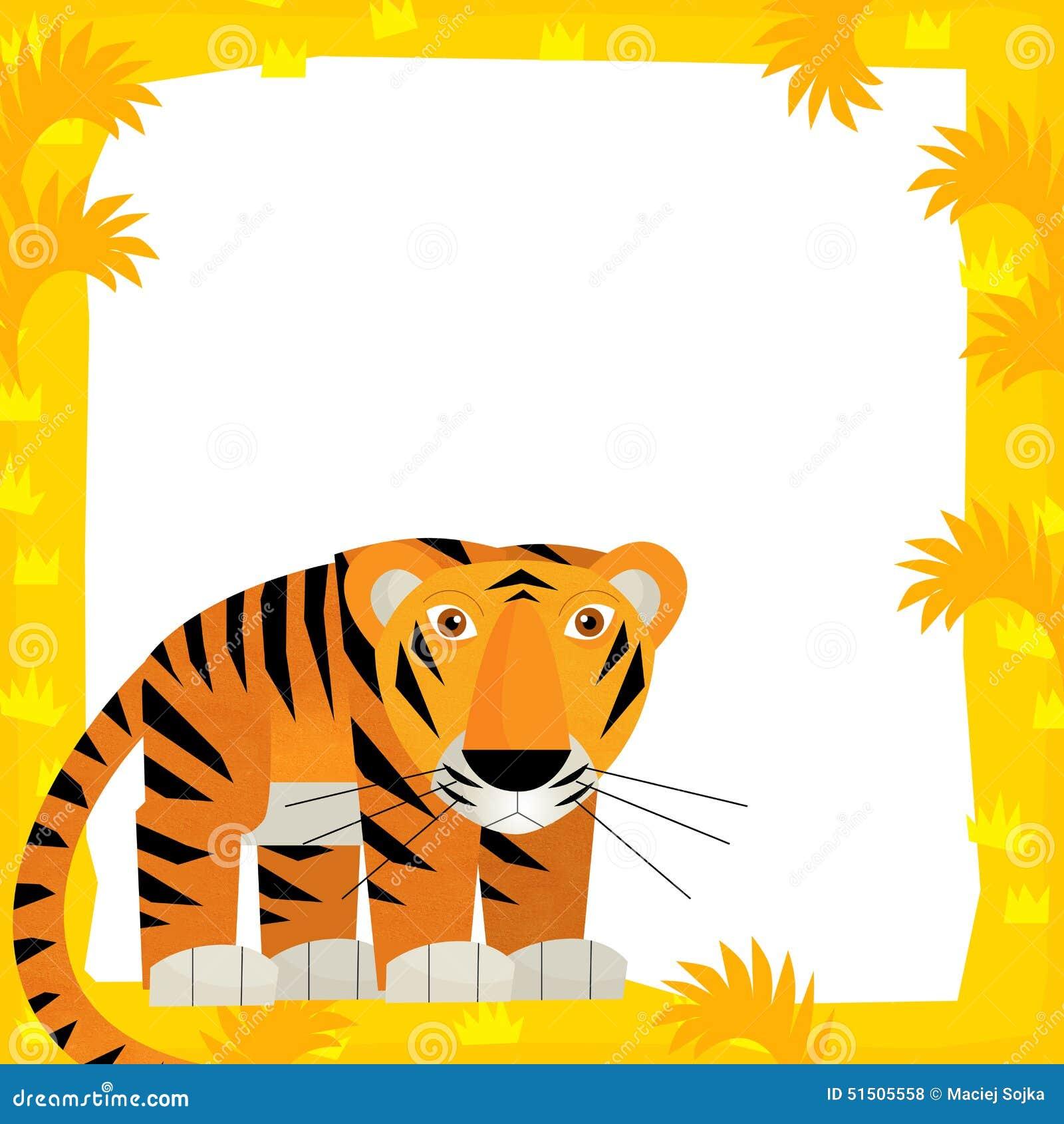 Escena Del Marco De La Historieta - Tigre Stock de ilustración ...