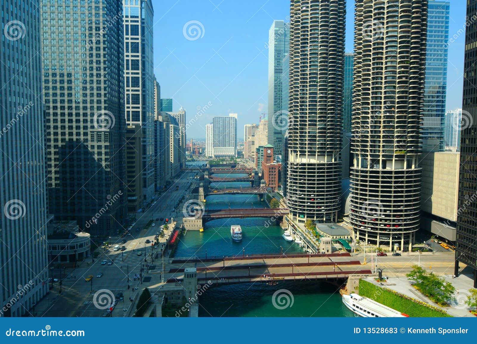Escena del río de Chicago