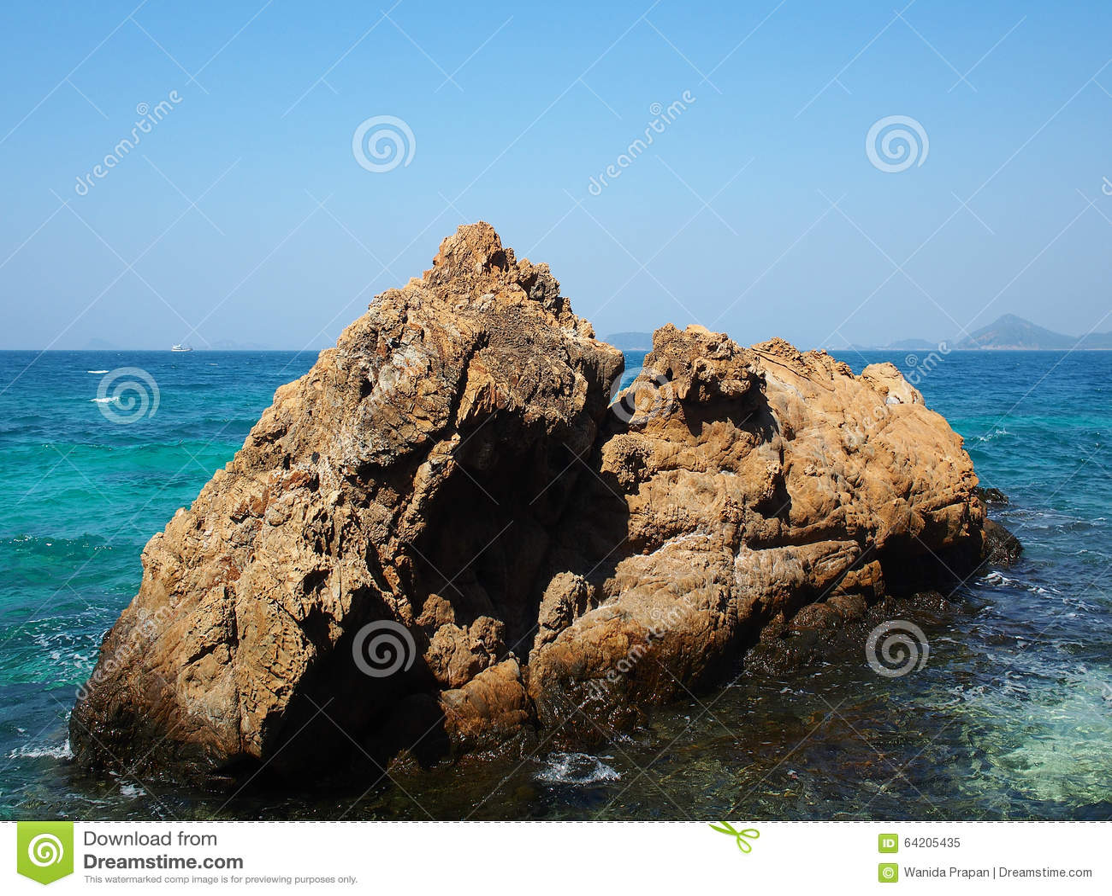 Escena ideal, playa hermosa Opinión de la naturaleza del verano