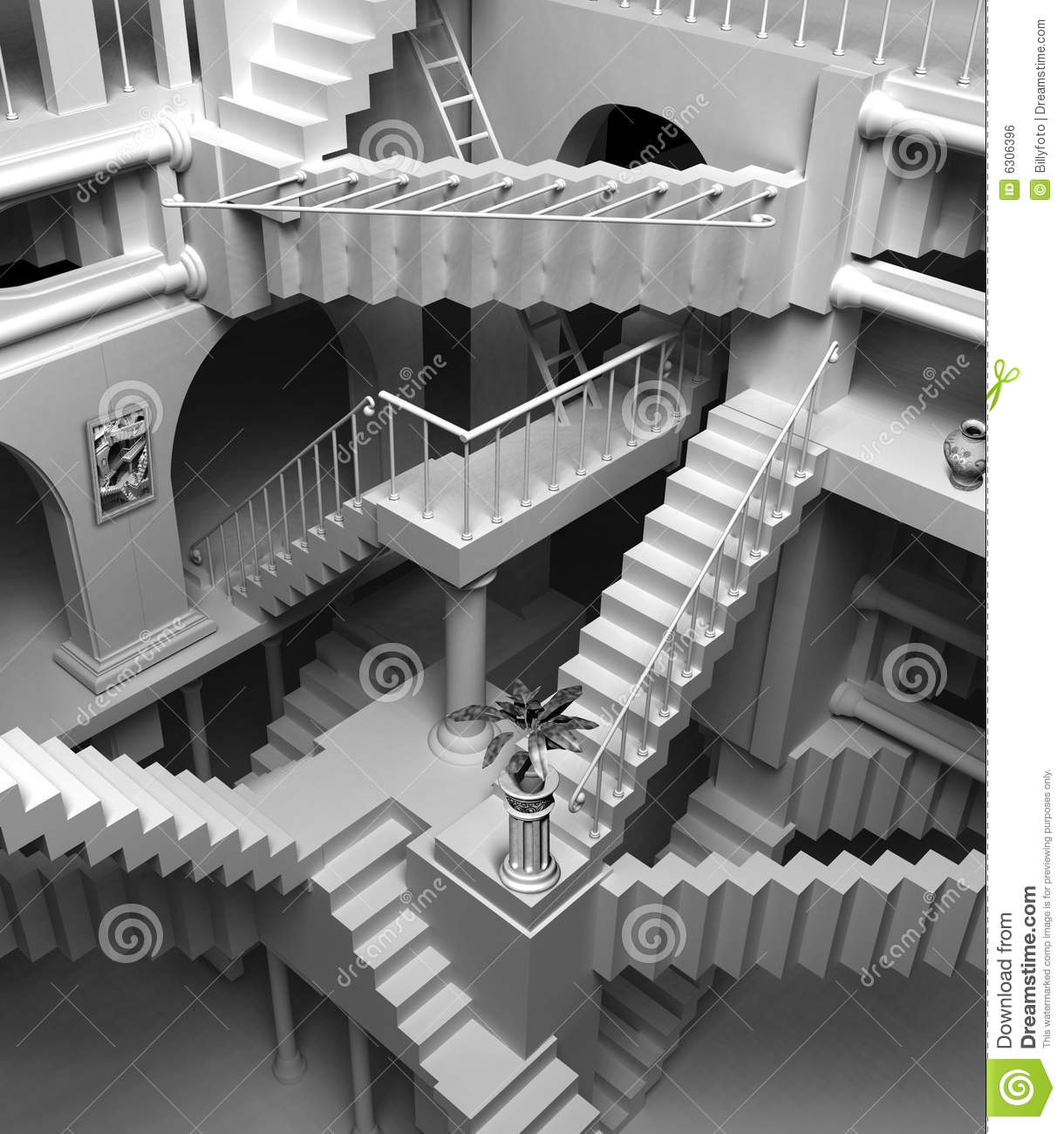Escher Stairs Royalty Free Stock Image Image 6306396