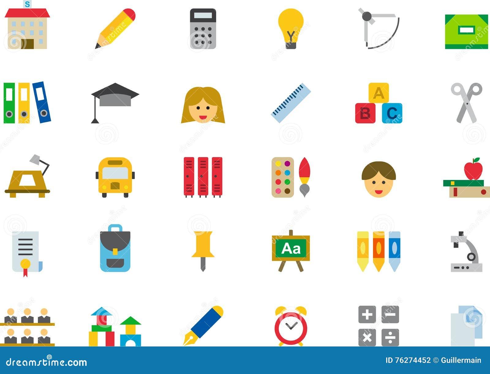 Escola e jogo do ícone da instrução