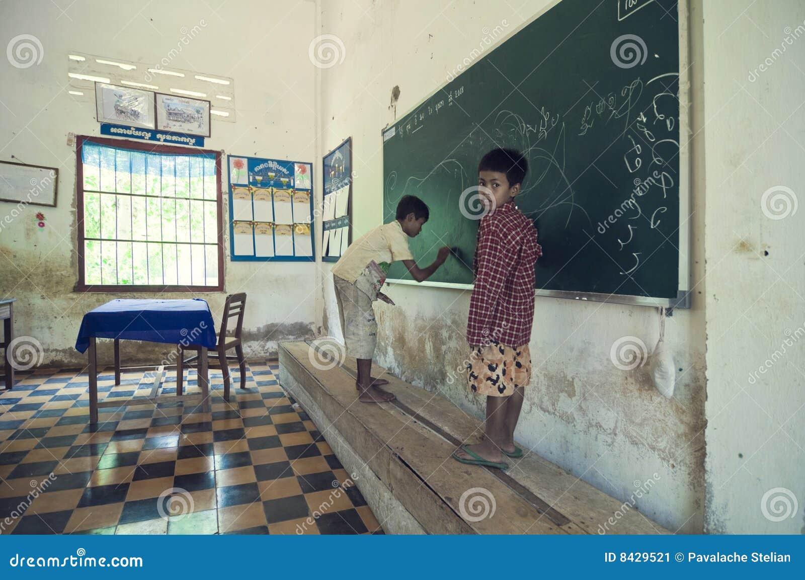 Escola em Cambodia