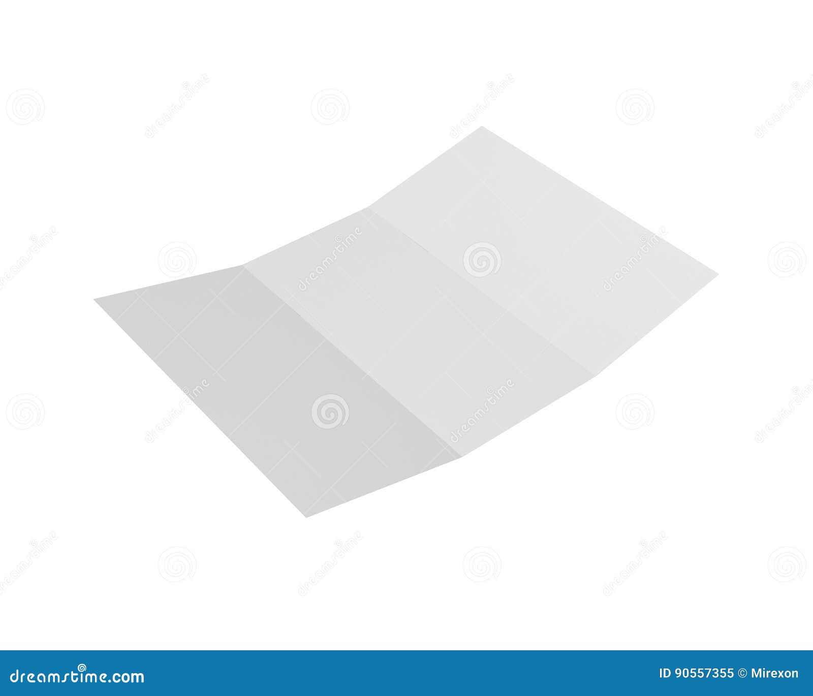 Esconda el Libro Blanco doblado del prospecto representación 3d