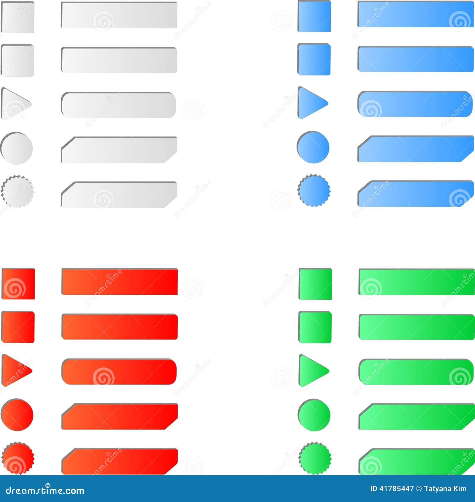 Esconda el sistema coloreado del botón del web de Internet